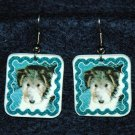 Wire Fox Terrier Wired Hair Puppy Earrings Handmade