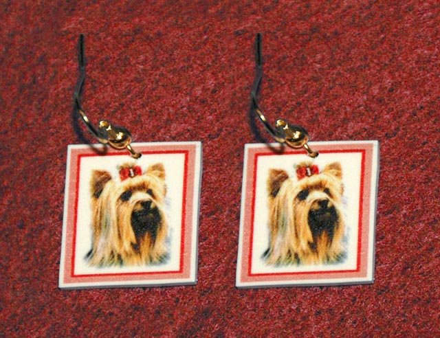 Yorkshire Terrier Jewelry Earrings Handmade