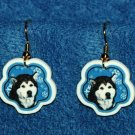 Alaskan Malamute Christmas Snowflake Earrings Jewelry Handmade