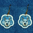 Australian Cattle Dog Jewelry Christmas Snowflake Earrings Handmade