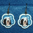 Bearded Collie Dog Christmas Snowflake Earrings Jewelry Handmade