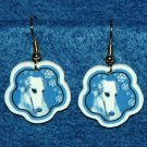 Borzoi Russian Wolfhound Dog Jewelry Christmas Snowflake Earrings Handmade