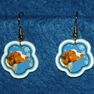 Brittany Spaniel Jewelry Christmas Snowflake Earrings Handmade
