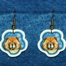 Chow Chow Dog Christmas Snowflake Earrings Jewelry Handmade