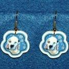 Clumber Spaniel Puppy Jewelry Christmas Snowflake Earrings Handmade