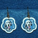 English Setter Jewelry Christmas Snowflake Earrings Handmade