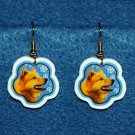 Finnish Spitz Dog Flag Christmas Snowflake Earrings Jewelry