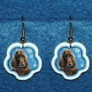 Irish Setter Jewelry Christmas Snowflake Earrings Handmade