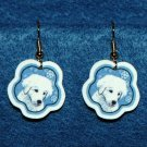 Kuvasz Puppy Dog Christmas Snowflake Earrings Jewelry Handmade