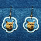 Norwich Terrier Christmas Snowflake Earrings Jewelry Handmade