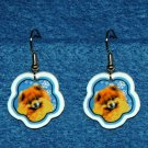 Pomeranian Pom Christmas Snowflake Earrings Jewelry Handmade