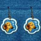 Rhodesian Ridgeback Jewelry Christmas Snowflake Earrings Handmade