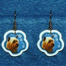 Silky Terrier Jewelry Christmas Snowflake Earrings Handmade