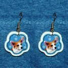 Welch Corgi Jewelry Christmas Snowflake Earrings Handmade