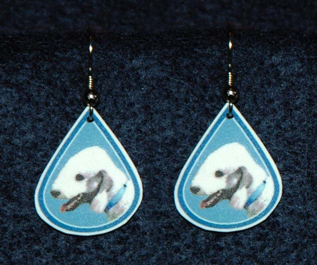Bedlington Terrier Teardrop Dog Jewelry Earrings Handmade