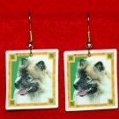 Keeshond Christmas Holiday Earrings Jewelry