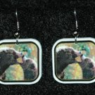 Grizzly Bears Kissing Bear Earrings Handmade