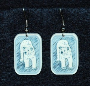 Polar Bear Bears Earrings Handmade