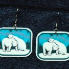 Polar Bear Bears Northern Lights Earrings Jewelry