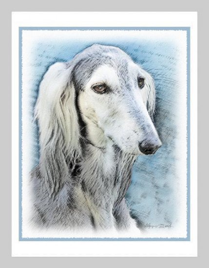 6 Saluki Note or Greeting Cards