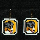 Bernese Mountain Dog Earrings Handmade