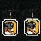 Bernese Mountain Dog Earrings Handmade