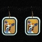 Chihuahua Dog Earrings Handmade