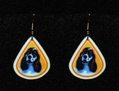 Cocker Spaniel Parti Color Earrings Jewelry Handmade