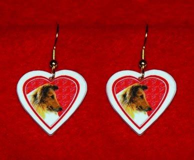 Collie Dog Heart Jewelry Earrings Handmade