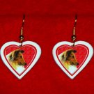Collie Dog Heart Jewelry Earrings Handmade