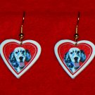 English Setter Dog Heart Earrings Jewelry Handmade
