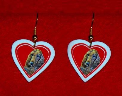 Irish Setter Heart Valentine Jewelry Earrings Handmade