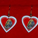 Irish Setter Heart Valentine Jewelry Earrings Handmade