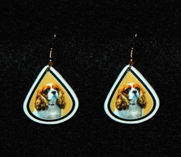 Cavalier King Charles Spaniel Jewelry Earrings Handmade