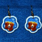 Nova Scotia Duck Tolling Retriever Christmas Snowflake Earrings Handmade