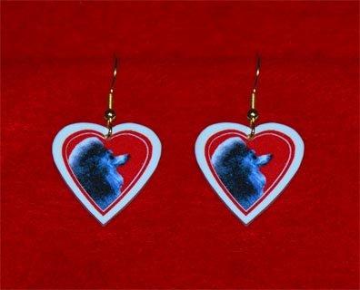 Poodle Heart Earrings Jewelry Handmade