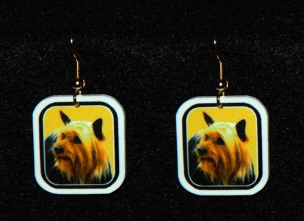 Silky Terrier Jewelry Earrings Handmade