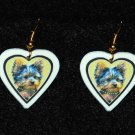 Yorkshire Terrier Puppy Heart Jewelry Earrings Handmade