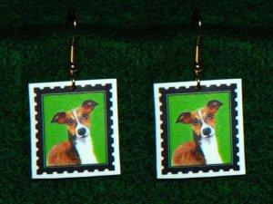 Italian Greyhoung Earrings - Handmade