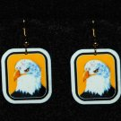 Bald Eagle Earrings - Handmade