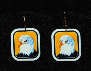 Bald Eagle Earrings - Handmade