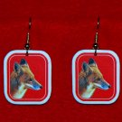 Red Fox Earrings - Handmade