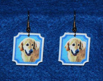 Golden Retriever Earrings - Handmade