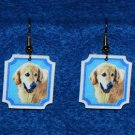 Golden Retriever Earrings - Handmade