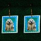 River Otter Earrings - Handmade