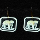 Polar Bear Cub Earrings - Handmade