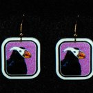 Tufted Puffin Earrings - Handmade