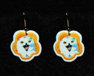 Snowy Owl Earrings - Handmade