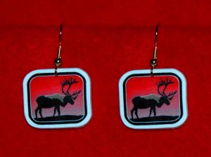 Caribou Sunset Earrings - Handmade