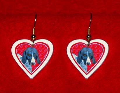 German Shorthaired Pointer Heart Jewelry Earrings Handmade